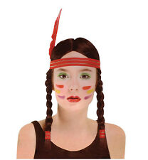 SQUAW WIG TIGERLILY NATIVE AMERICAN INDIAN GIRL ADULT FANCY DRESS ACCESSORY