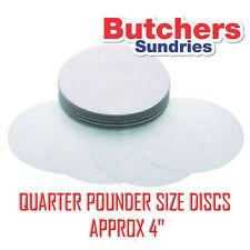 """250 x papier sulfurisé Burger disques pour quart de livre burger press 4 """"de diamètre"""