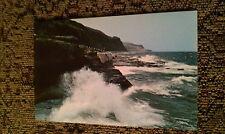 Vintage La Gaspesie Gaspe Nord Quebec Canada Waves Crashing on Rocks Postcard PC