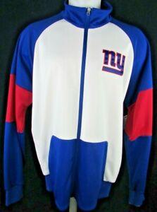 New York Giants Men's Full-Zip Lightweight Track Jacket NFL G-III White Blue Red