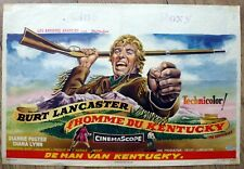 belgian poster western THE KENTUCKIAN, BURT LANCASTER, JOHN CARRADINE,