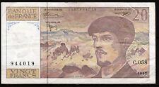 Billet 20 Francs Claude Debussy. 1997. France