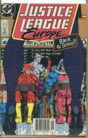 Justice League Europe 1989 series # 6 UPC code very fine comic book