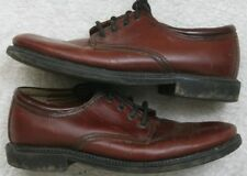 G.H. Bass Co. Brown Oxford Men's Dress Shoes 8W Eight Wide Solid Leather Upper