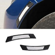 2X White Reflective Fender Strip Decal Car Wheel Eyebrow Protector Trim Stickers