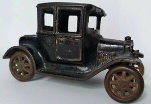"""1920s CAST IRON ARCADE FORD MODEL T COUPE CAR 5"""" ORIGINAL PAINT VINTAGE"""