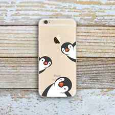 Rubber Penguin Soft TPU Silicone Back Case Cover for iPhone Samsung Huawei LG