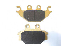 PERFORMANCE SINTERED GOLD REAR BRAKE DISC PADS FOR YAMAHA MT125 2014 TO 2018