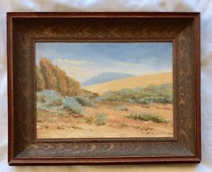 Edward Wilson Currier California Desert Impressionist Painting 1904
