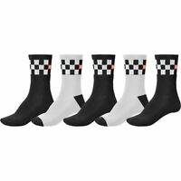 Globe Socks 5 Pack Checker Crew Black White SIZE 7-11 Skateboard Sox