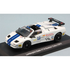 LAMBORGHINI DIABLO VT-R ROADSTER TROFEO 1997 WHITE/BLUE 1:43 Whitebox Die Cast