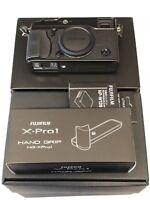 Fujifilm X-Pro1 Mirrorless Digital Camera (Body) + Handgrip + Fuji OEM Battery