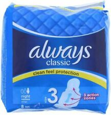 Always Maxi Classic Night Time Pads Sanitary Towels with Wings - Size 3