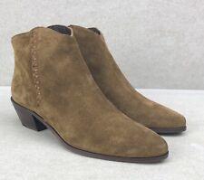 FRYE Antonia Thread Shootie Western Brown Suede Boots Shoes Booties Size 6.5