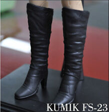 "1/6 KUMIK FS-23 Female Shoes High Heels Boots Fit 12"" Hot toys Action Figure"