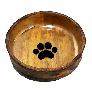 Advance Pet Products Wooden Dog Bowl - For Food or Water