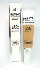 It Cosmetics Bye Bye Foundation Full Coverage moisturizer ~ Medium Tan ~ 1.0 oz