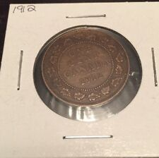 1912 Large Canadian Cent, Good Condition!