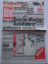 Bild Zeitung, 31.8.1990, Einheit! Heut wird unterschrieden, Samantha Fox