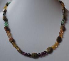 natürliche Fiuorit Kugeln und Zylinderförmige Jaspis Halskette