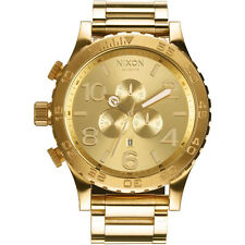 *NEW* NIXON 51-30 A083-502 WATCH MENS GOLD TONE - NEXT DAY DELIVERY, WARRANTY