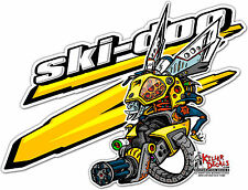 "(SKID-7) RIGHT 6"" SKIDOO SKI-DOO SNOWMOBILE REV ROBOT BEE DECAL STICKER"