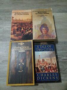 Charles Dickens book lot. 4 classic paperbacks.