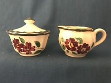 Wade Hand painted  Creamer and Sugar dish set hand Made in England vintage
