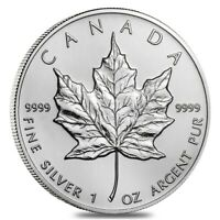 2002 1 oz Silver Canadian Maple Leaf .9999 Fine $5 Coin BU (Sealed)