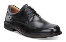 Men's ECCO Holton Apron Toe Tie Leather Shoes Black 621114 01001 Medium