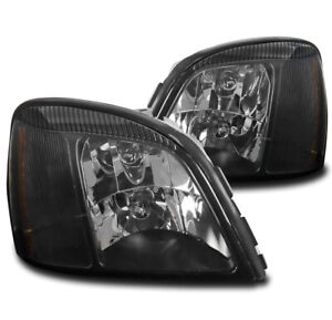 FOR 00-05 CADILLAC DEVILLE DHS DTS STS REPLACEMENT HEADLIGHT HEADLAMP LAMP BLACK