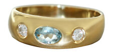 Allianzring mit Topas Goldring 750 Brillantring 0,16 ct -  Ring Gold - Damenring