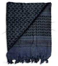 100% Cotton Arab Military Shemagh Headscarf Keffiyeh Sniper Veil Blue & Black