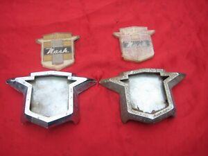 1953 ? 1954 ? 1955 ? 1956 ? Nash Hood Grille Emblem & Bezel LOT