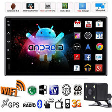 """Android Quad Core Wifi Double 2 Din 7"""" Car Stereo GPS MP5 Player Radio +Camera"""