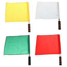 4pcs Referee Soccer Hocky Lineman Track and Field Flag Competition Hand Flag