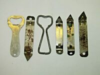 Vintage Lot Of 6 Bottle Openers Quick & Easy, Hilton, Carling Brewery Beer Can
