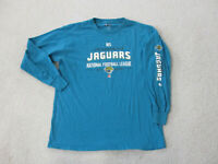 Jacksonville Jaguars Shirt Adult Large Green White Long Sleeve Football Mens *
