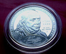 PROOF 2006 .900 SILVER DOLLAR BEN FRANKLIN Founding Father, Rare proof w Holder.