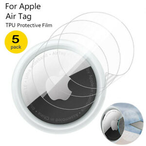 5 Pack Protective Film Cover for Apple AirTag Tracker Perfect Screen Protector