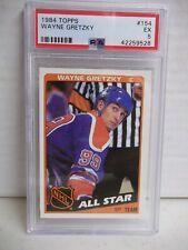 1984 Topps Wayne Gretzky PSA EX 5 Hockey Card #154 NHL HOF