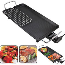 48*28 Large Teppanyaki Grill Table Electric Hot Plate BBQ Griddle Camping 1500W