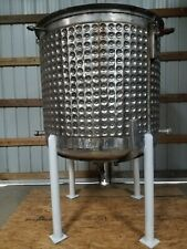 500 Gallon Stainless Steel Dimple Mixing Tank