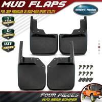 for Jeep Wrangler JK 2007-2016 2017 2018 Mud Flaps Splash Guards 4PCS Front&Rear