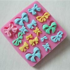 16 BOW RIBBON KNOT Silicone Fondant Cake Topper Mold Mould Chocolate Sugarcraft