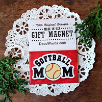 Softball Mom Magnet Girl Ball Player Fast Pitch team Fridge DecoWords New USA