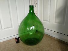 More details for vintage large green glass carboy  54 litre