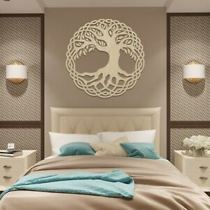007 Tree of Life Hanging Modern Contemporary Wall Art Wood Wooden MDF Hanging