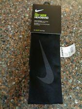 Nike Dri-fit Wide Headband Black / Gray Official Unisex New Basketball Training
