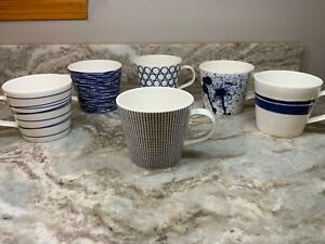 Coffee Mug By Royal Doulton Cobalt Blue And White Pacific Your Choice 14 oz. New